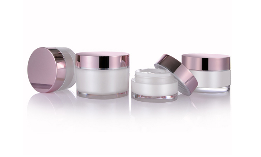 Acrylic Empty Double Wall Cream Jar Eco Friendly Cosmetic Packaging Container Featured Image