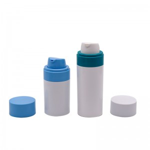 Skincare refillable airless pump cosmetic package