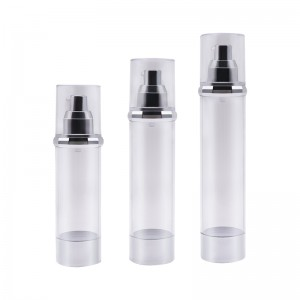 Thin Cylinder Airless Pump Bottle with Diamond Shoulder