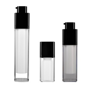 Square Double Wall Skin Care Cream Use Airless Bottle