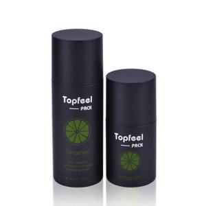Skin Care Use Black Airless Pump Bottle for Men Skincare Packaging