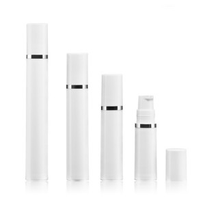 Small size PP plastic airless bottle cosmetic plastic vacuum bottle