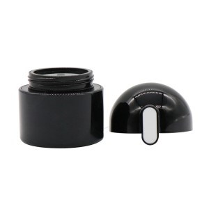 New Style High Quality Black 50g Plastic ABS Cosmetic Container Cream Jar