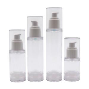 30ml 50ml 80ml 100ml Clear Round Airless Bottle