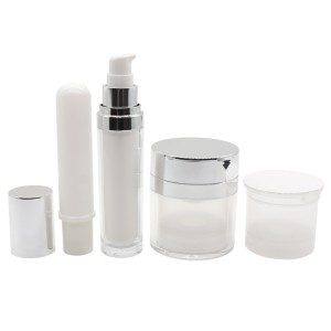 Refillable Airless Cream Jar, Replaceble PCR Lotion Pump Bottle