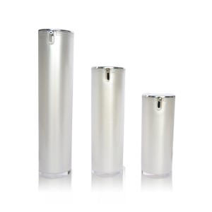 Double wall lotion pump airless bottles