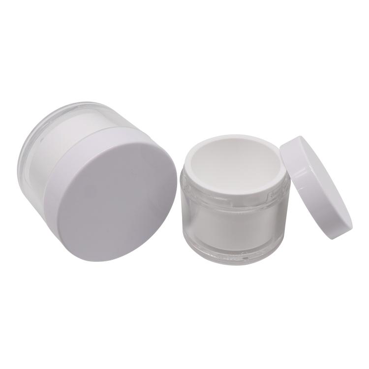 Double wall refillable cream jar