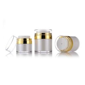Plastic Squeeze Bottles Cosmetic Airless Pump Cream Jars