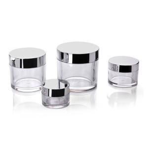 PETG single wall cream jar round shape clear plastic jar 5g 15g 30g 50g 80g 100g