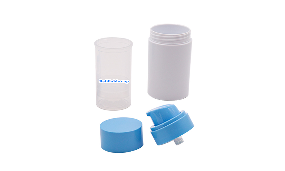 Skincare refillable airless pump cosmetic package Featured Image